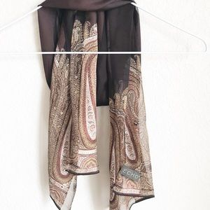 Echo • Brown Paisley And striped scarf.